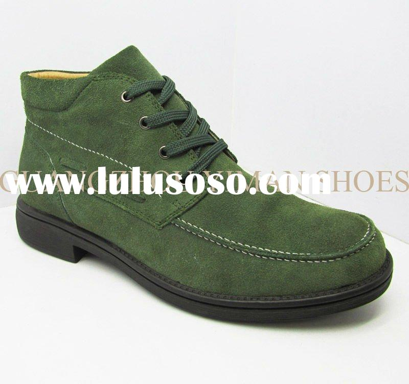 2011 new design fur leather men shoes