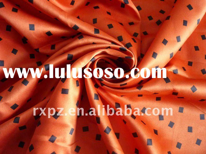 50D*75D Polyester Satin Stretch Printed Fabric
