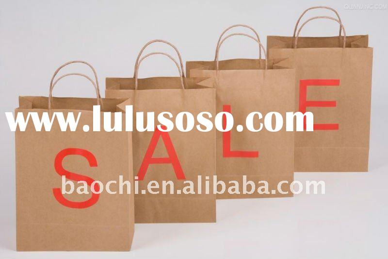 Promotion shopping kraft paper bag