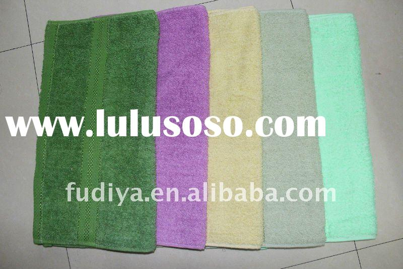 cotton plain dyed bulky with twisted loops solid color bath towel