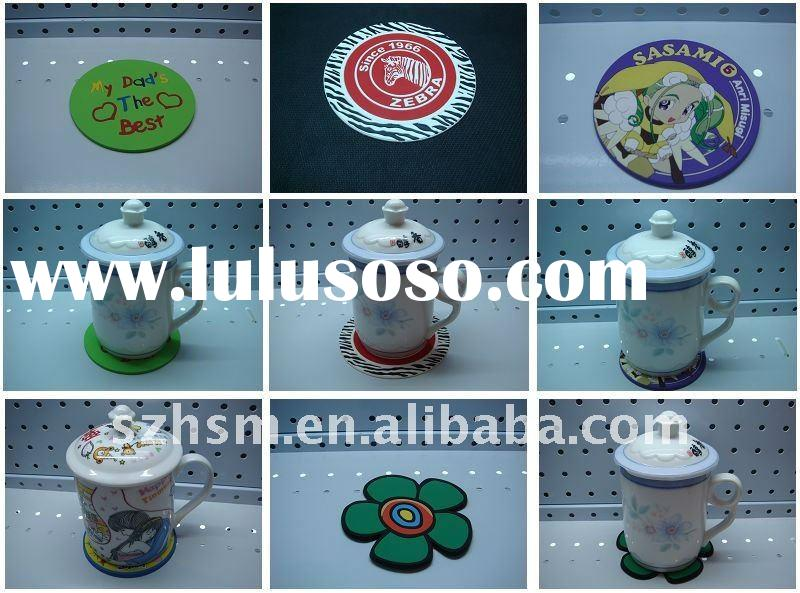 fashion and lovely pvc  cup coaster