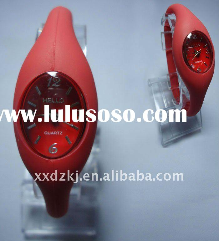 red ion silicone watch for sports