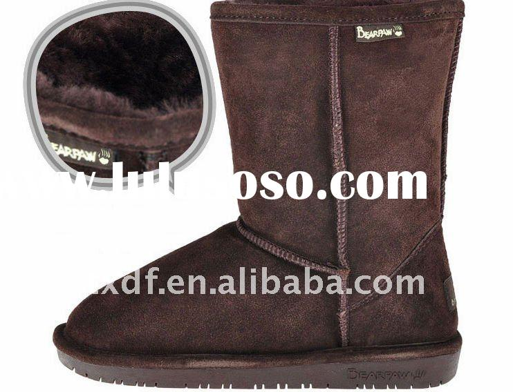 double faced Australian  lamb  fashion half snow boots