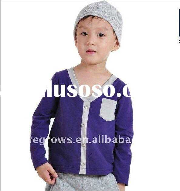 2011cotton autumn and winter boys shirt,kids warm clothing,Japan style