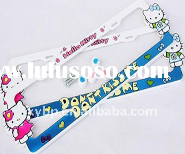 Cute Iron Car Number Plate Frame