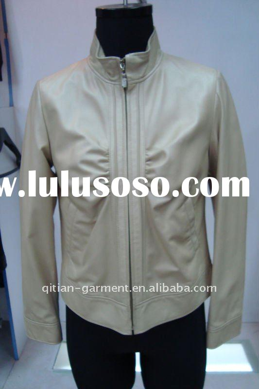 Ladies' fake leather fashion jacket