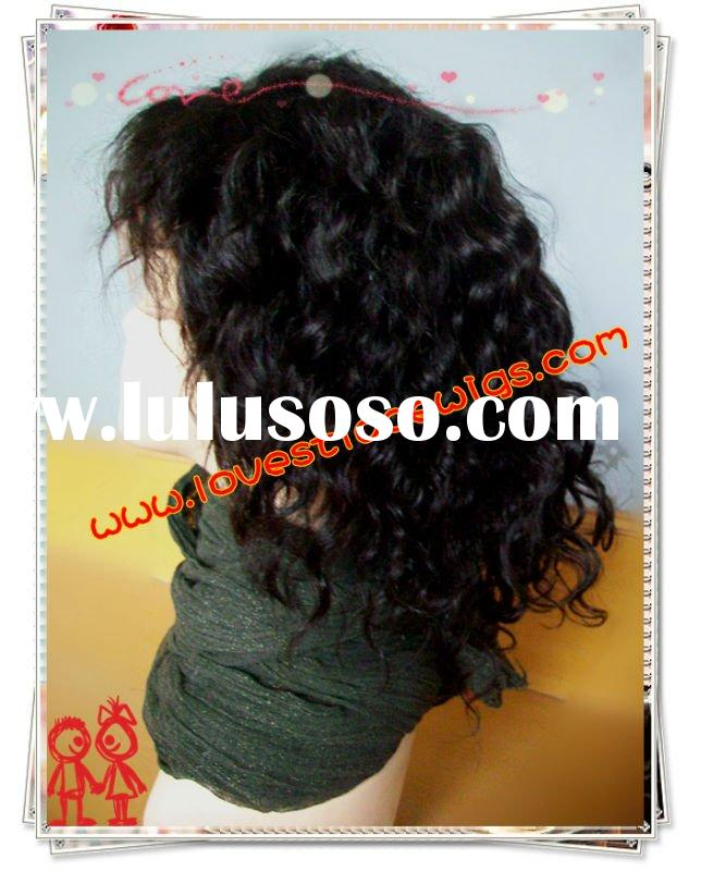 #1b 8 inch 100% indian remy hair deep wave full lace wig in stock