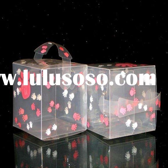 clear plastic soft box for gift