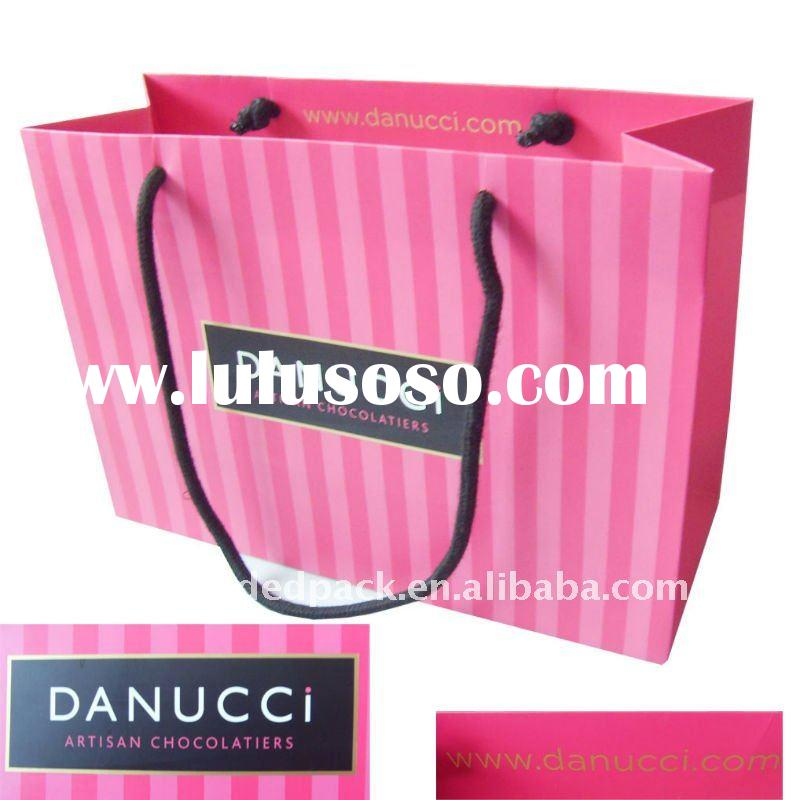 luxury paper bag for clothing