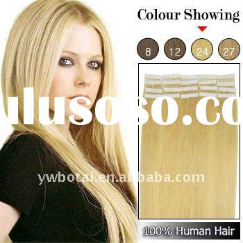 newest arrival !! ! tape human hair extensions 24# blonde
