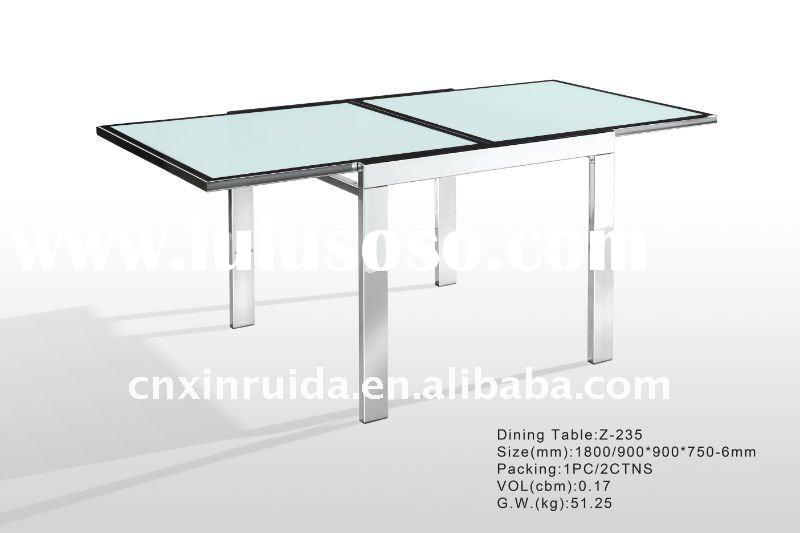 2011 high quality extendable glass dining table-new item