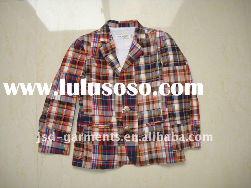 NICE CHECK boys blazers with super quality,  woven check lining