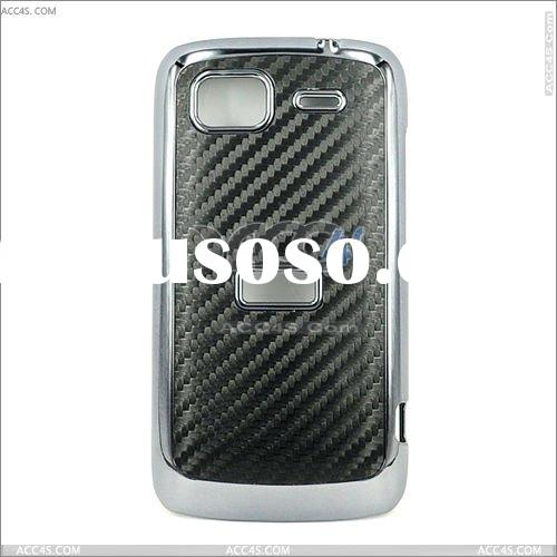 New Black Back Weaving Pattern Hard Case Cover and Black Plating Frame For HTC Sensation 4G G14 Blac