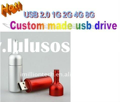 Promotional bottle usb drives with logo printed