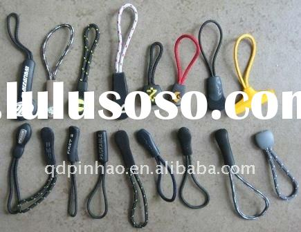 Various shape/color pvc zipper pull tab