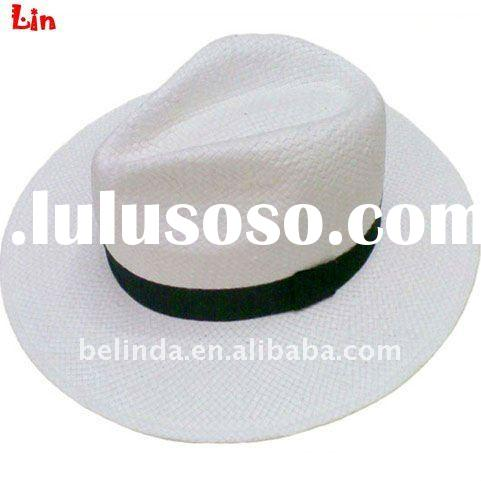 paper straw men big panama fedora hat