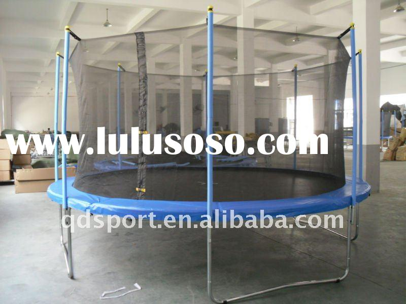 Round Trampoline With Safety Enclosure Ladder Amp Slide For