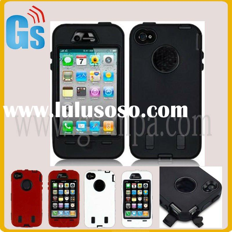 For iphone4 case silicone armor body black