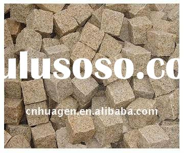G350 light yellow granite paving stone