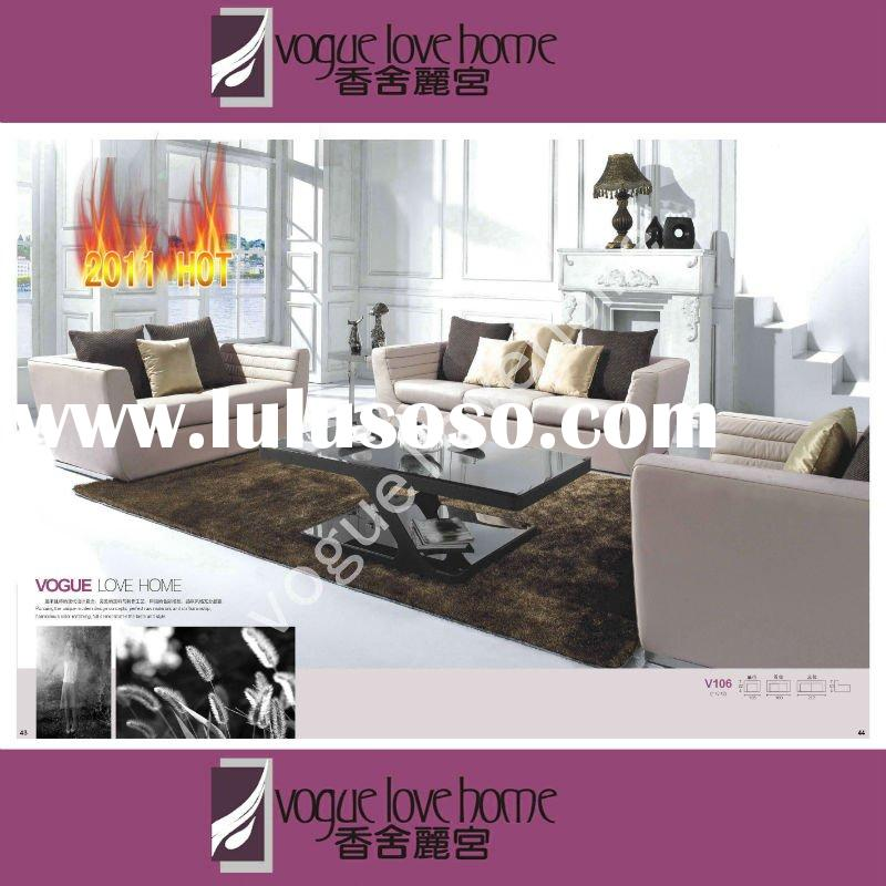 chinese italy europe style genuine leather living room furniture