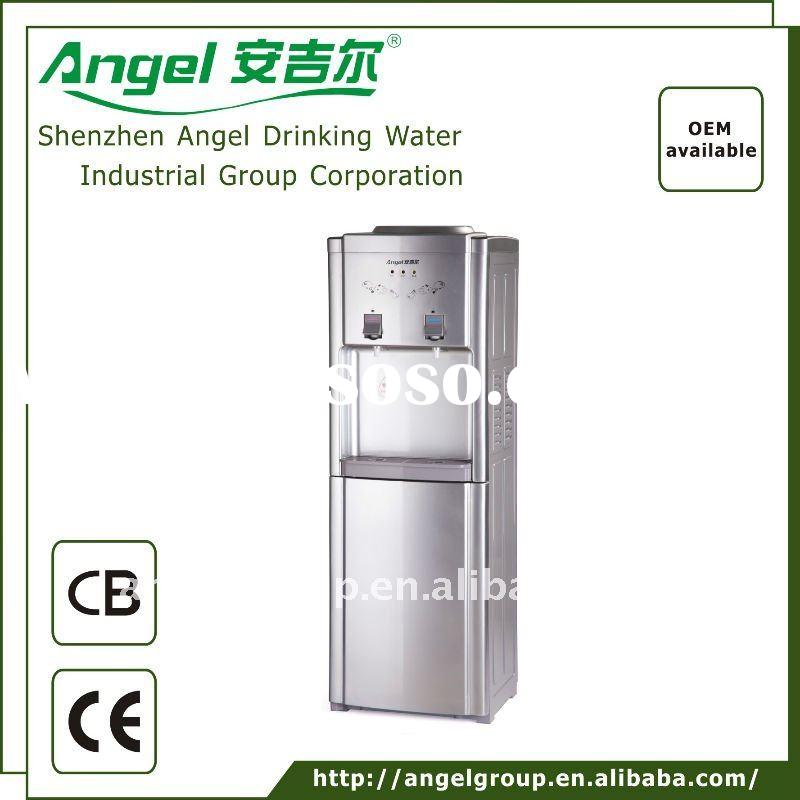 standing water dispenser with the electronic cooling  the best selling model   2 color  white and si