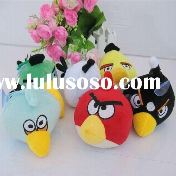 2011 New Style Wholesale & Retail Mix Order Bird&Pig Game Dolls Plush Toy Size S 12cm