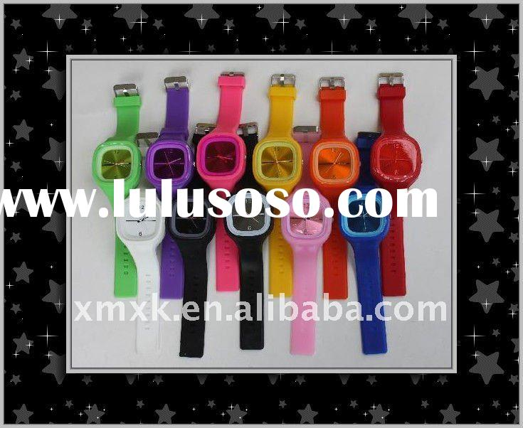 2011 fashion high quality silicone jelly watches