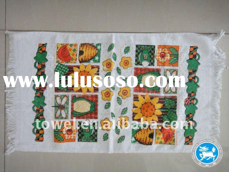 polyester /cotton 45-65g printed tea towel