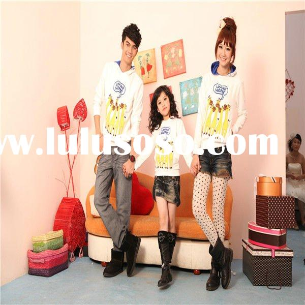 2011 hot selling family suit-- new casual white hooded & Cartoon- Patterned cotton blazer