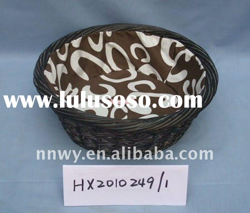 Handmade high quality wicker black basket