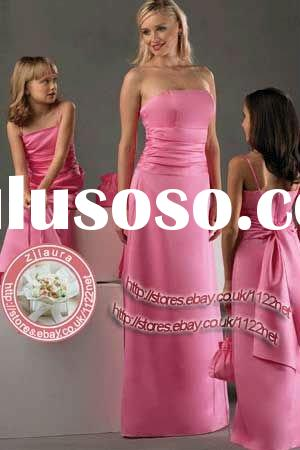 Quality full-length bridesmaid dress / evening gown with ruching and long sash- various colours and