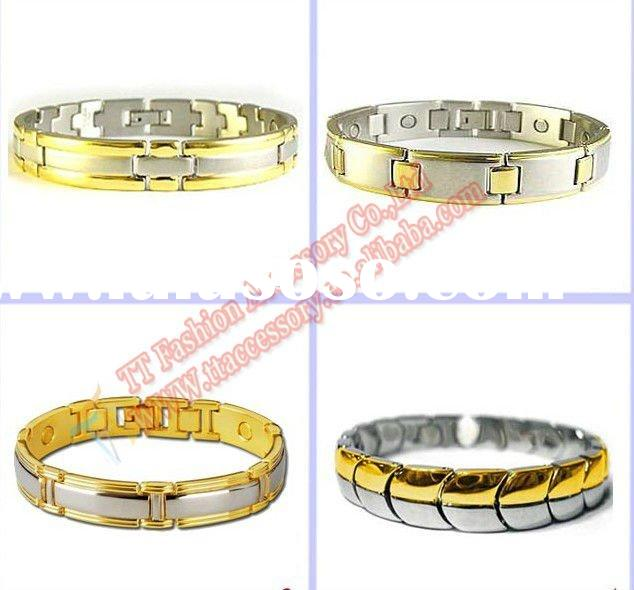 fashion men's magnetic stainless steel bracelet