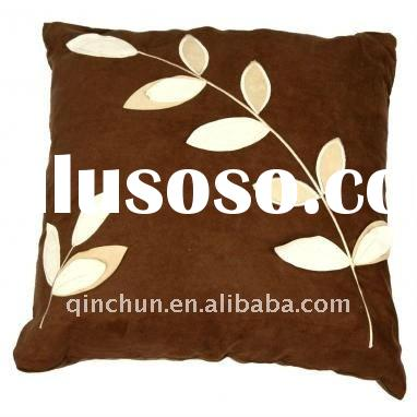 micro suede fabrc with applique for cushion