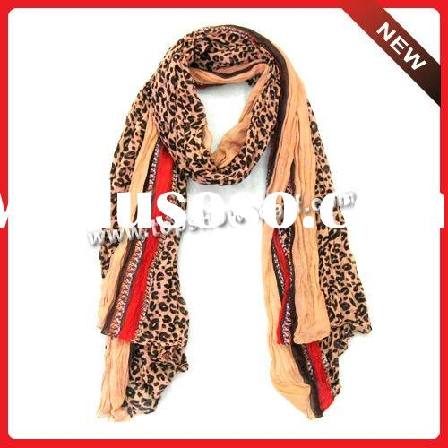 polyester print voile scarf