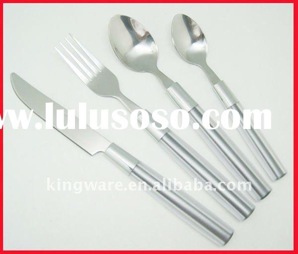 stainless steel 16&24pc cutlery set with plastic handle