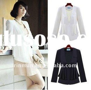 2011 new autumn winter women's clothing V shrug long-sleeved pure color white small waist su