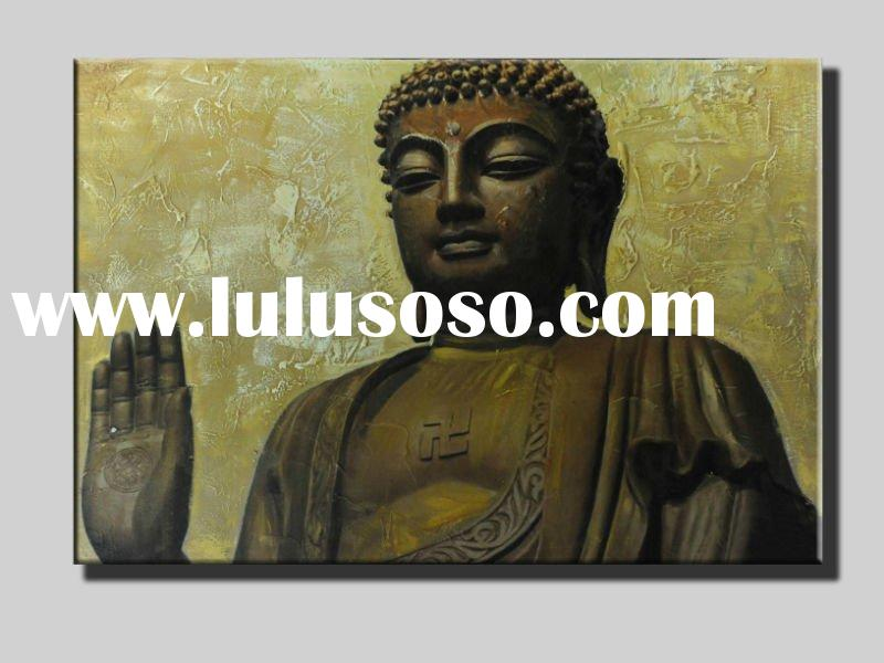 Figure of buddha oil painting