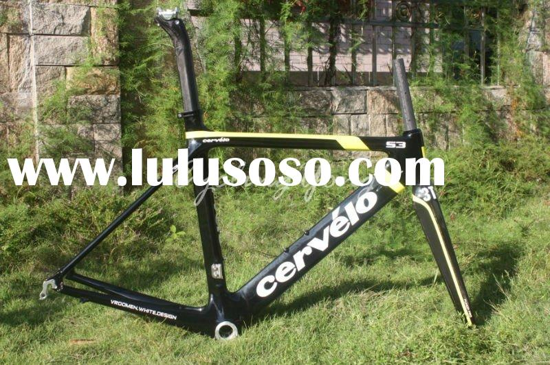 Free shipping 2011 Cervelo S3 carbon road frame and fork 51cm,52cm,54cm The lightest aero frame,whol