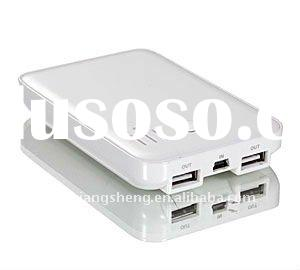 Portable battery powered outlet double usb outlet for mobile phone