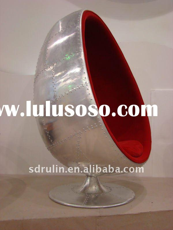 2011new aluminum fiberglass egg pod chair