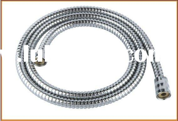 Stainless steel double lock shower hose with pvc inner hose