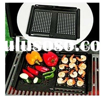 Flexible non-stick BBQ cast iron grill pan