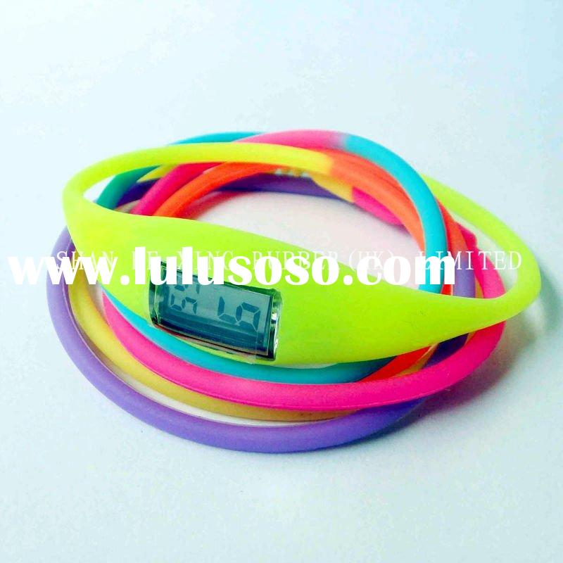 Newest!!! anion silicone sport watch