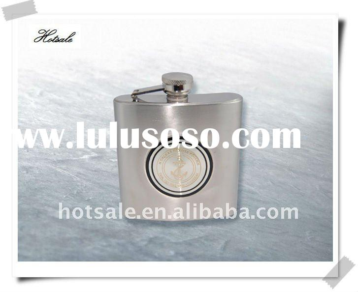 With metal apparition hip flask&Stainless steel Hip flasks&Stainless steel hip flask with wa