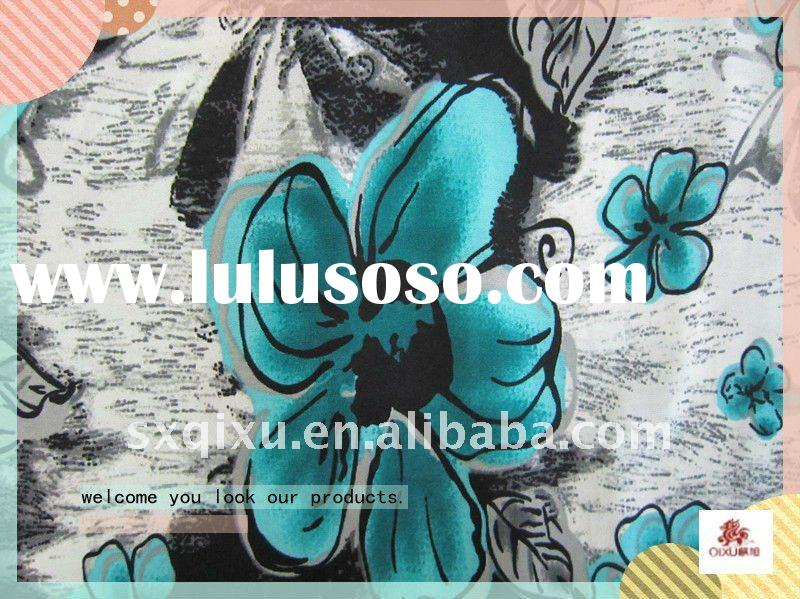 printed polyester spandex knitted fabric
