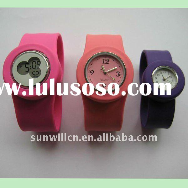 2011 Promotion and popular silicone slap watch