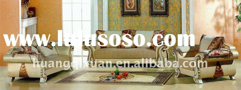 Antique Fabric &leather combination sofa set
