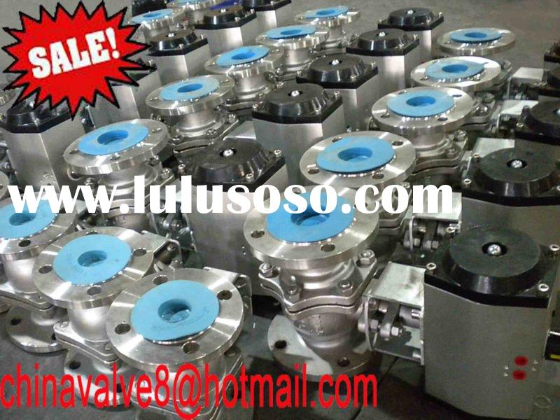CE, ISO API 2pc pneumatic stainless steel ball valve