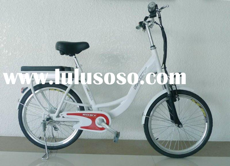 Electric Bike with 240W Brushless Hub Motor, 200 to 220 Rotating Speed and 35 to 40km Range electric