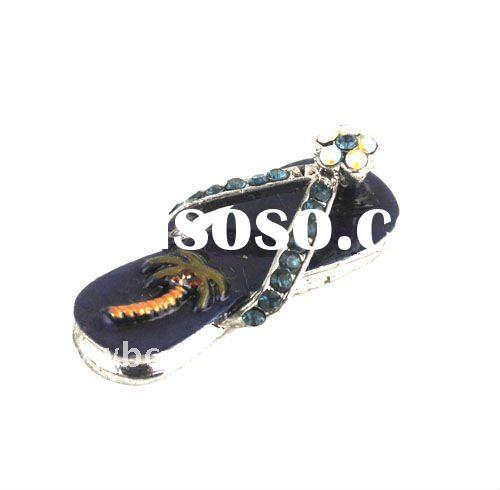 Hotsell enamel alloy crystal slipper necklace pendant(1105107)